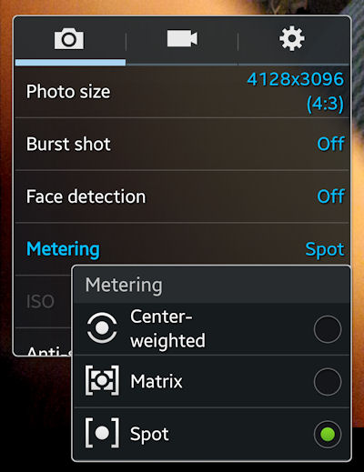 Galaxy S4 Spot Mode Settings