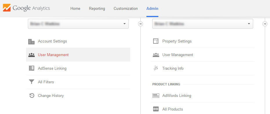 How do I remove myself from a Google Analytics channel