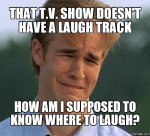 Laugh track meme