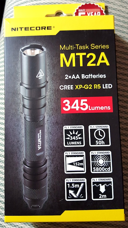 Tactical Flashlight Review: Nitecore MT2A (2xAA)