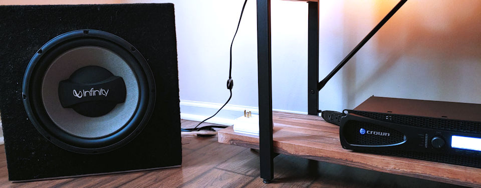 Crown XLS1002 with Infinity Kappa subwoofer