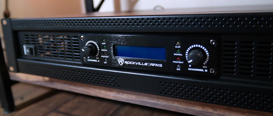 Cover shot of the Rockville RPA12 power amp