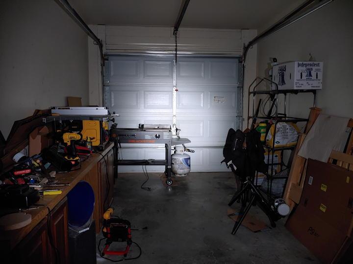 Garage light test using High mode