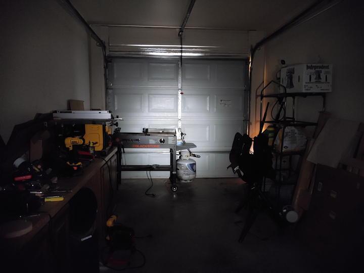Garage light test on low mode