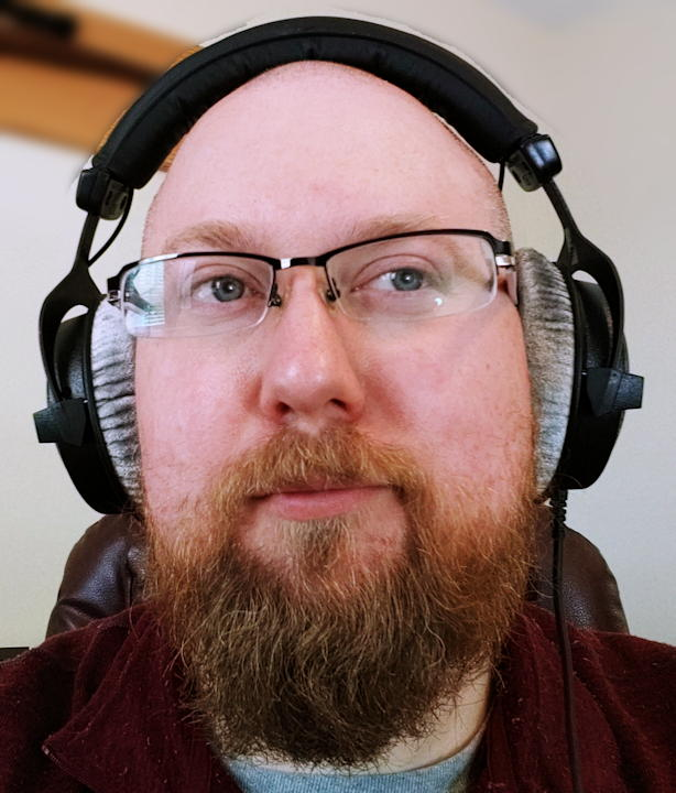 Me wearing the DT 770 doing some critical listening.